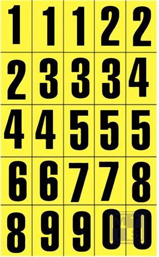 Mini picto set van 25, 3 keer 1/5 2 keer 6/0 21x56mm