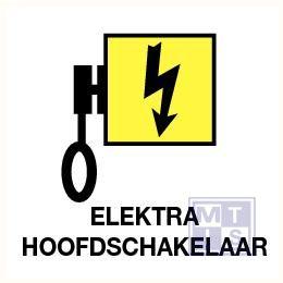 Elektra hoofdschakelaar vinyl 200x200mm
