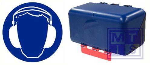 Secubox gehoorbesch.mini blauw 23,6x12x12cm