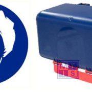 Secubox haarnetjes mini blauw 23,6x12x12cm