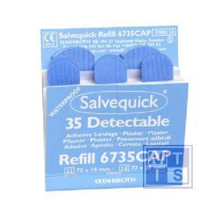 Salvequick navulling detec. pleister 6x35 stuks