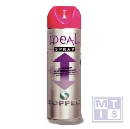 Multidirectionele spuitbus roos ideal spray fluo 500ml