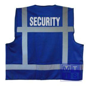 ATV veiligheidsvest XXXXL blauw opdruk SECURITY